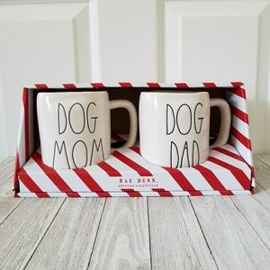 Rae Dunn DOG MOM DOG DAD Mug Set